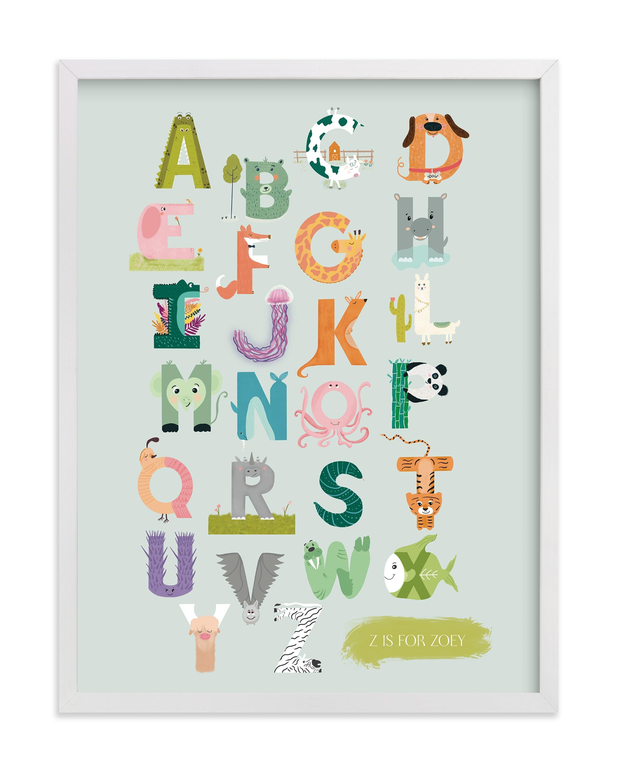 Alphabet Farm Nursery Custom Art Print