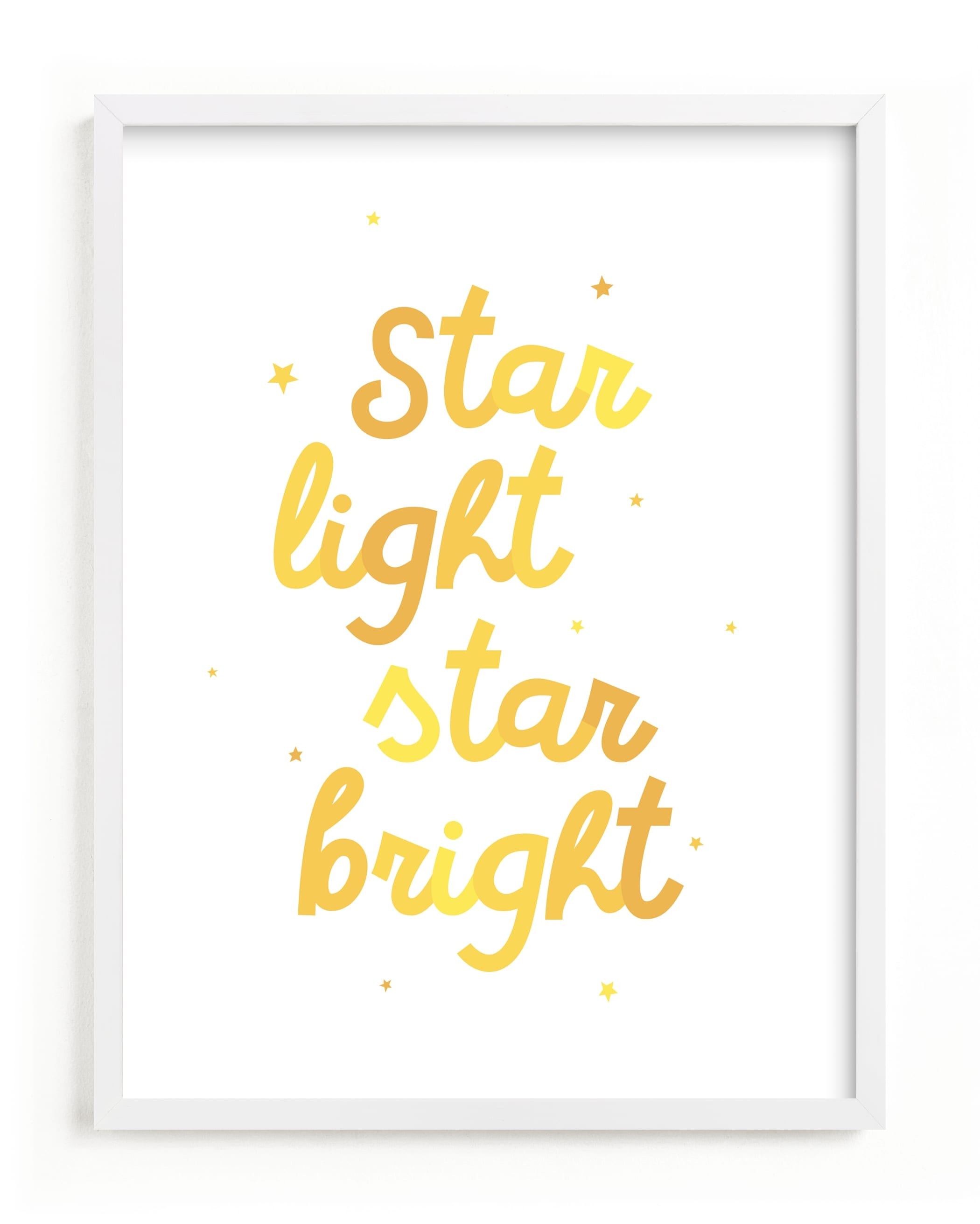 """Star Light Star Bright"" - Limited Edition Art Print by Lea Delaveris in beautiful frame options and a variety of sizes."