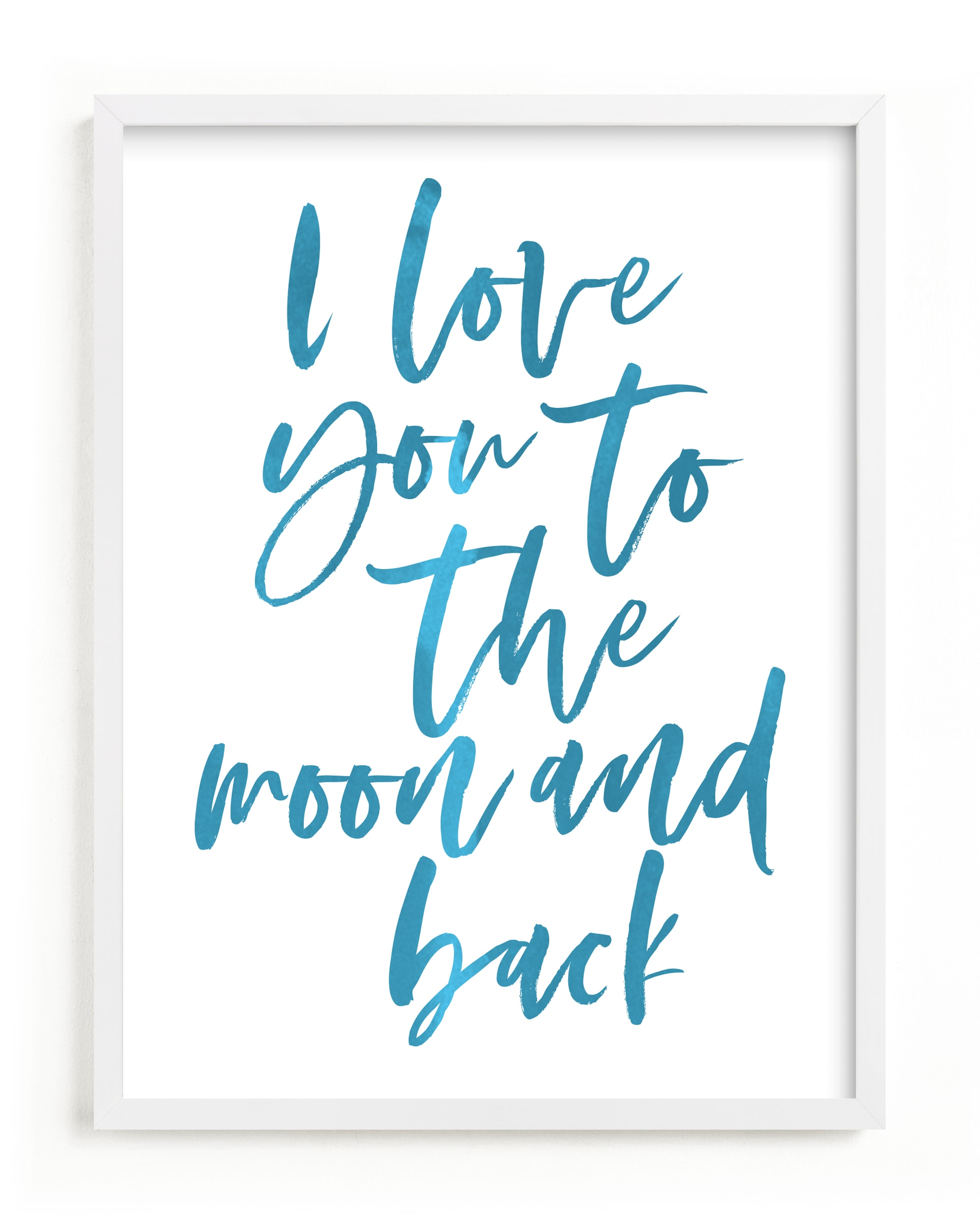 """""""I love you to the moon and back"""" - Limited Edition Art Print by Caitlin Considine in beautiful frame options and a variety of sizes."""