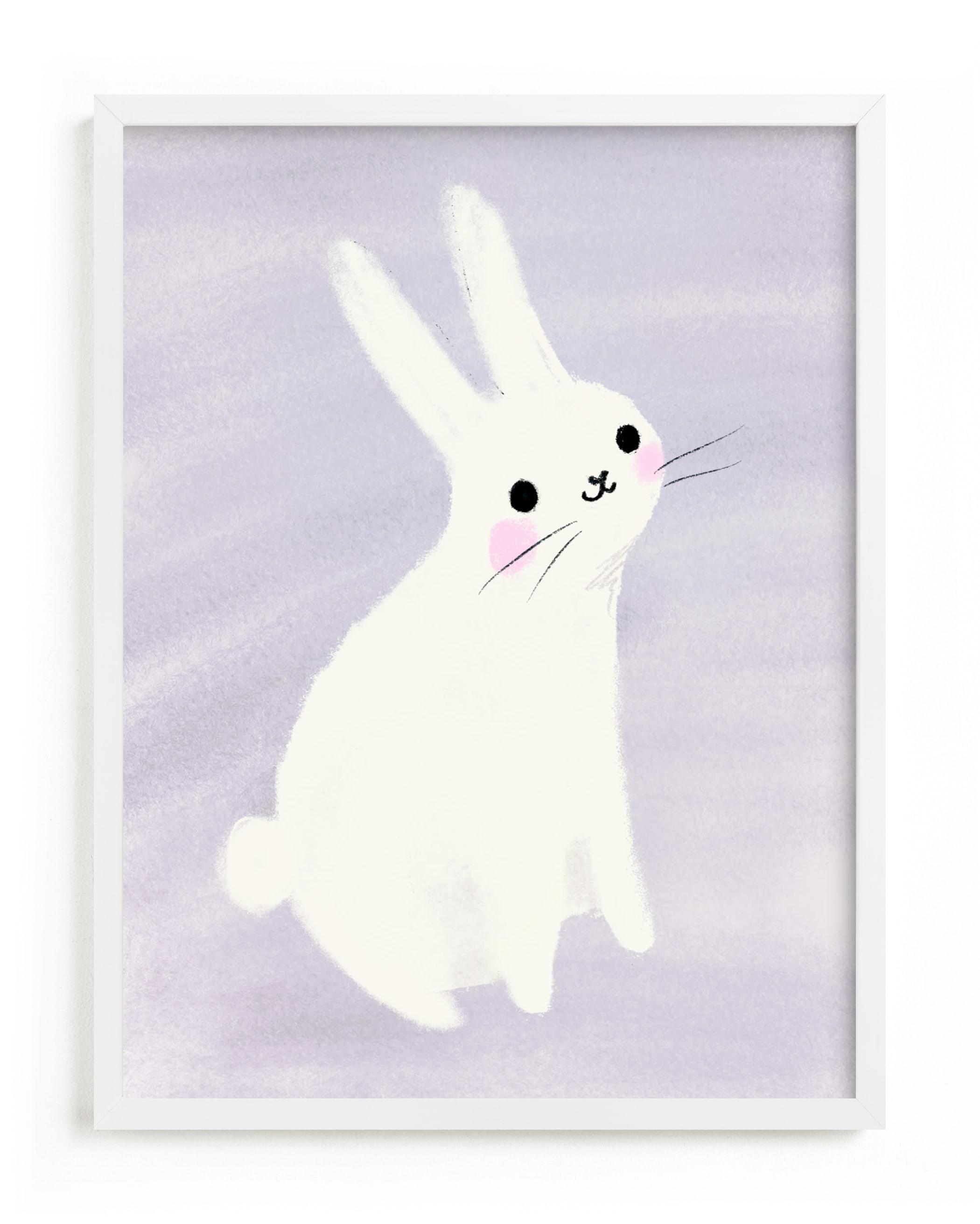 Happy Bunny Nursery Art Print