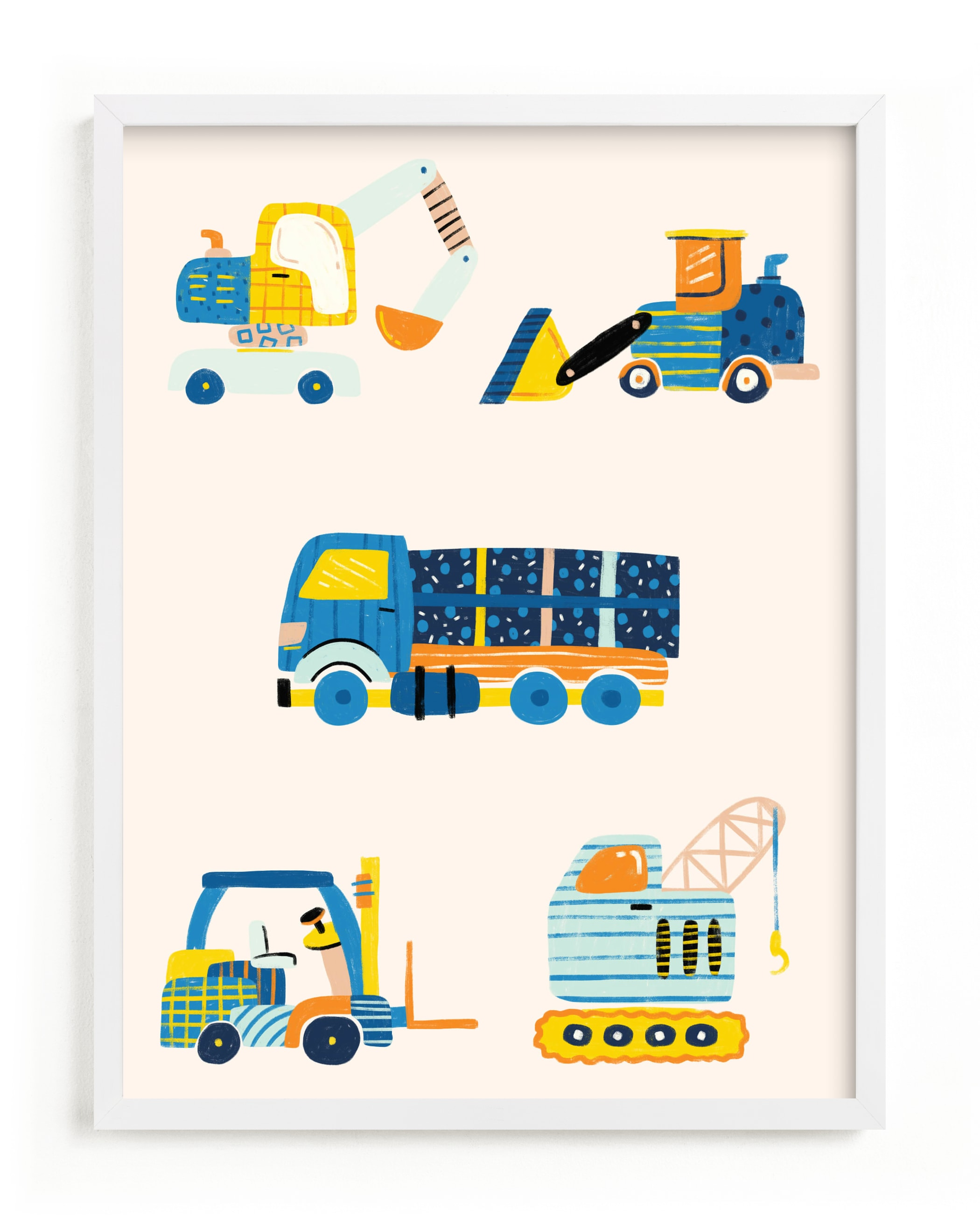 The Truck Gang Nursery Art Print