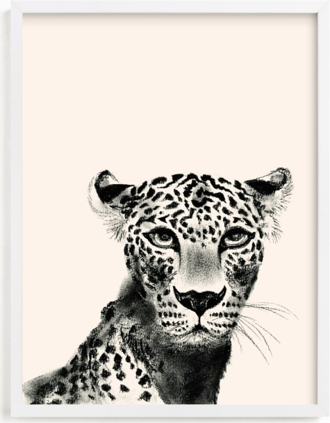 This is a ivory art by Teju Reval called Leopard.
