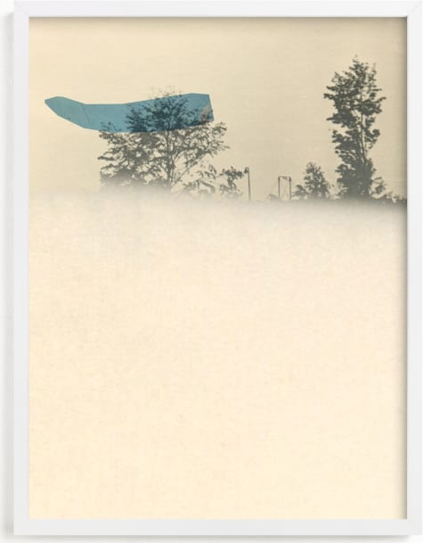 This is a blue art by Sumak Studio called what is invisible.