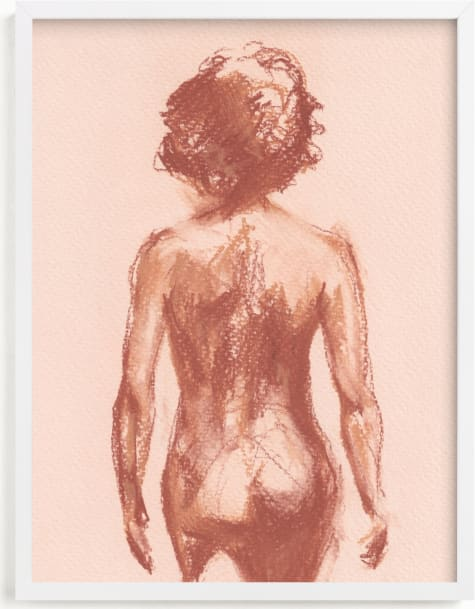 This is a pink art by Jenny Partrite called Walking Ahead.