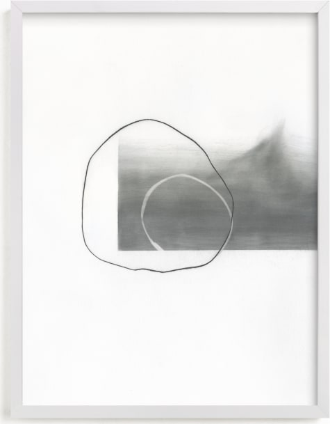 This is a black and white art by Kirsta Benedetti called Abstract drawings I.