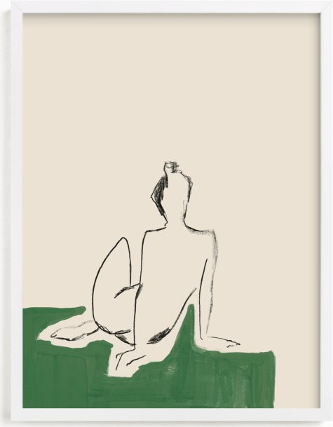 This is a ivory art by Annie Clark called Figure on Green.