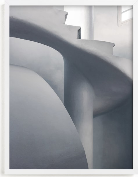 This is a black and white art by Pink House Press called Monochrome Staircase.