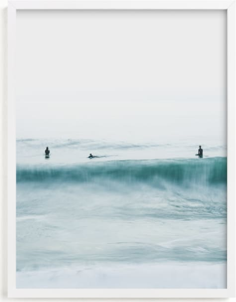 This is a blue art by Mike Sunu called Hermosa Blue II.