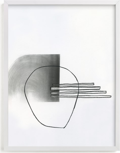 This is a black and white art by Kirsta Benedetti called Abstract drawing II.