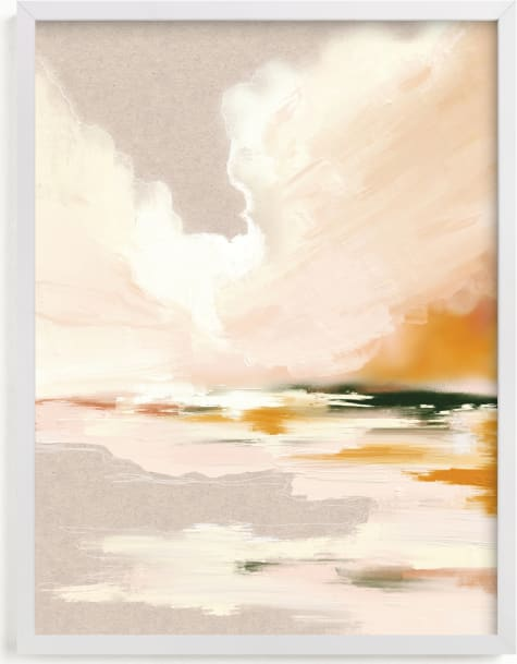This is a pink art by Katy Abraham called Lulu's Landing.