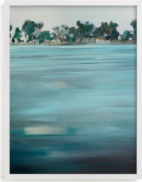 This is a blue art by Jen Florentine called Come Ashore.