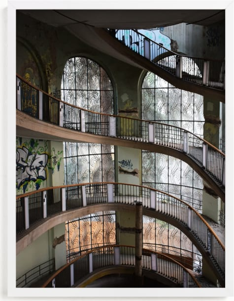 This is a grey art by Greta Staknyte called Abandoned architectural beauty.