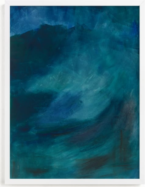 This is a blue art by Manuela BK called Transitioning.