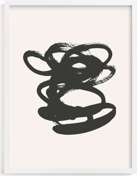 This is a black and white art by Sara Hicks Malone called morning meditation no. 2.