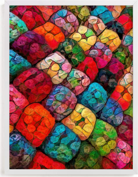 This is a colorful art by A MAZ Design called Abstract Felted Wool I.
