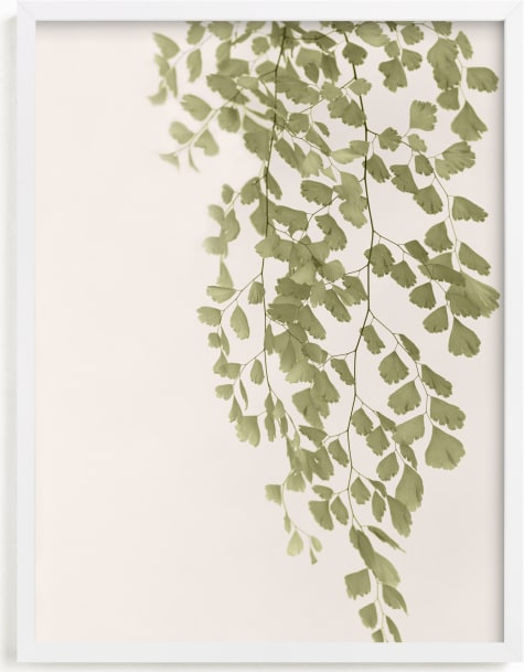 This is a green art by Eliane Lamb called Softness.