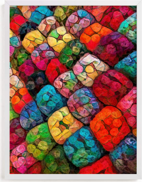 This is a colorful art by A MAZ Design called Abstract Felted Wool II.