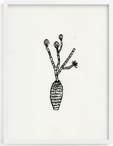 This is a ivory art by Elliot Stokes called Flower stems.