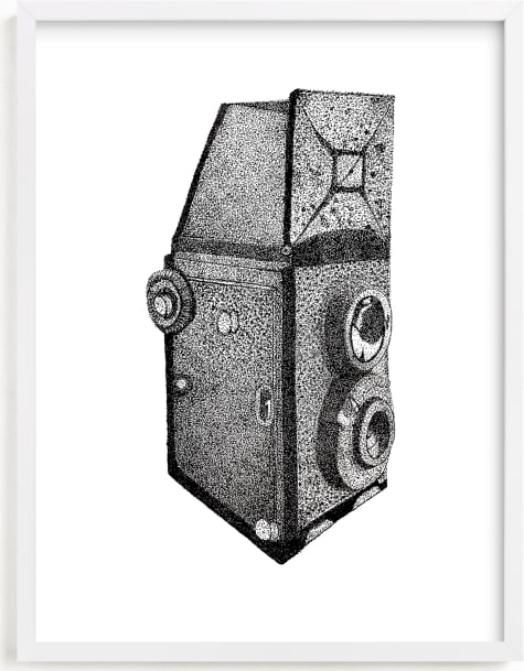 This is a black and white art by Nicole Winn called Camera Illustration.
