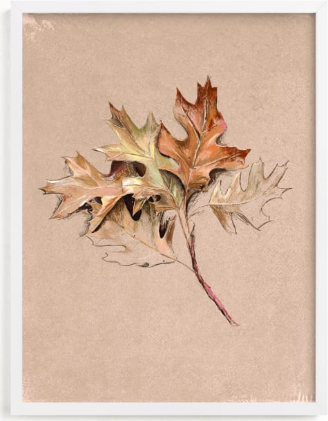 This is a brown art by Olivia Kanaley Inman called Leaf Study.