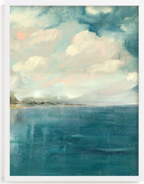 This is a blue art by Lindsay Megahed called Across the pond.