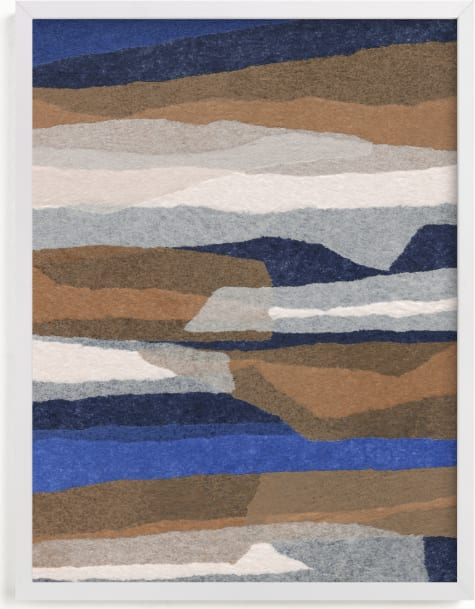 This is a blue art by Carrie Moradi called stormy strata.