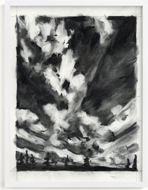 This is a black and white art by Kelly Johnston called plume.