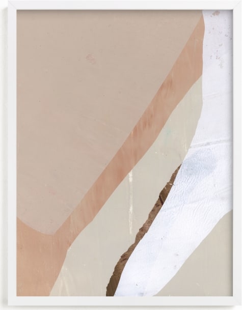 This is a white art by Jennifer Daily called Paper Plane II.