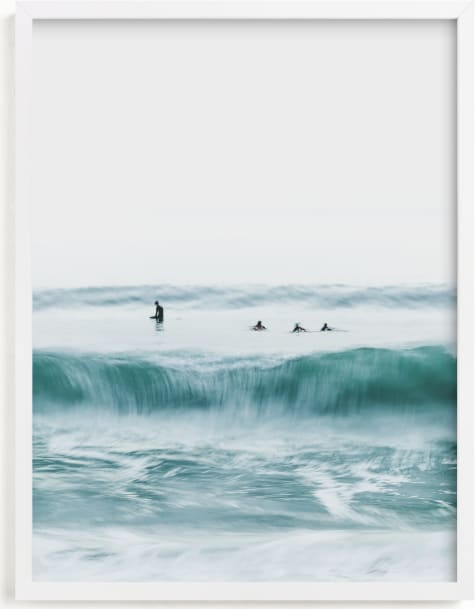 This is a blue art by Mike Sunu called Hermosa Blue I.