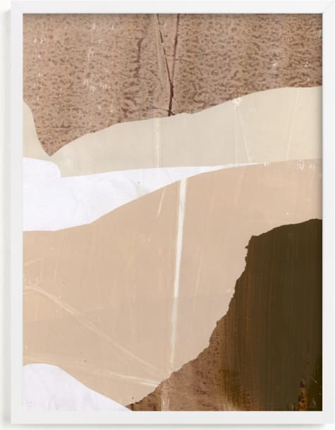 This is a white art by Jennifer Daily called Paper Plane III.