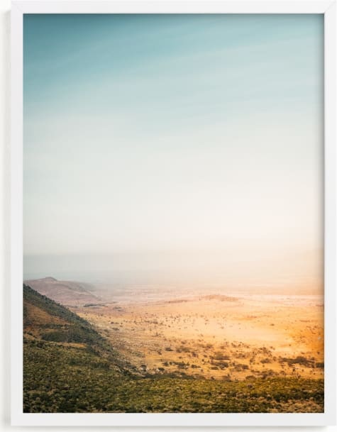 This is a blue art by David Michuki called Great Rift Valley I.
