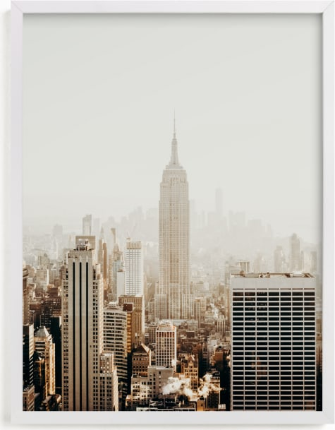 This is a brown art by Becca Frederick called New York City in Gold.
