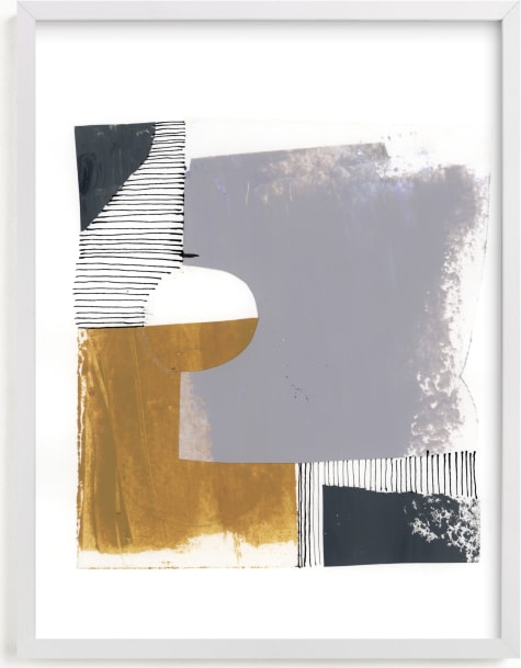 This is a black and white art by Bethania Lima called Urban block 1.