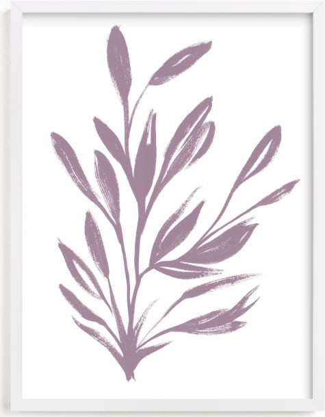 This is a purple art by Nancy Noreth called Botanical Sumi Ink.