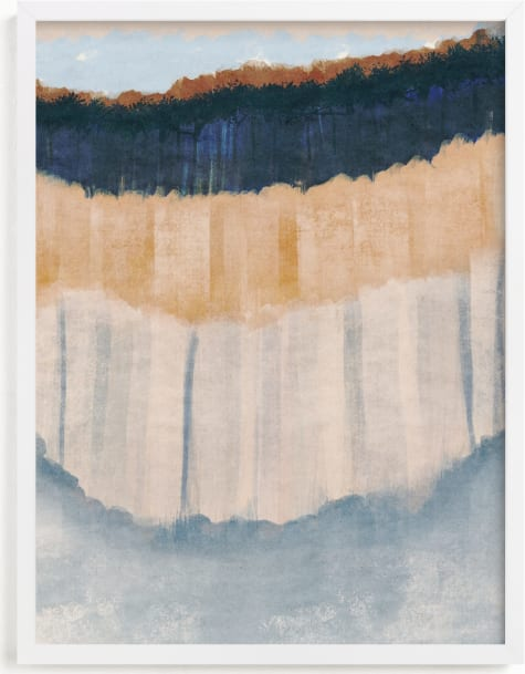 This is a blue art by Angel Walker called Light Rustic Formation I.