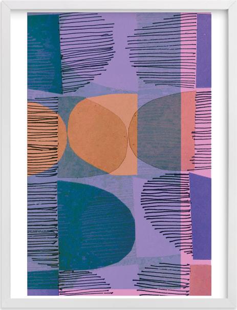 This is a blue art by Jenna Skead called Boho Screenprint II.