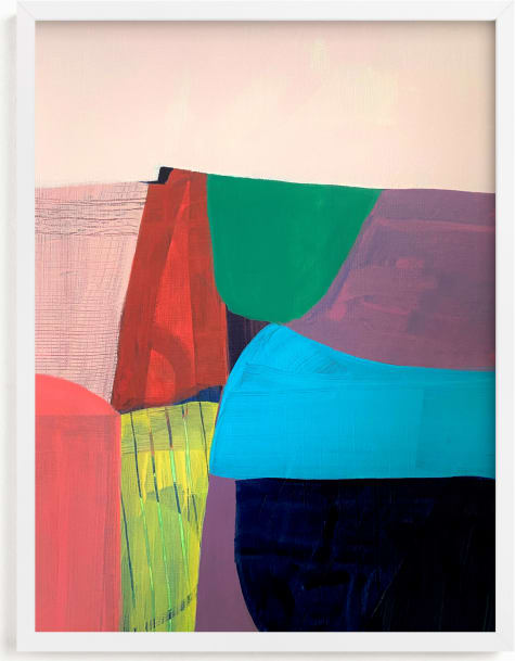 This is a blue art by Poppy Dodge called Tomales Road: Dawn.