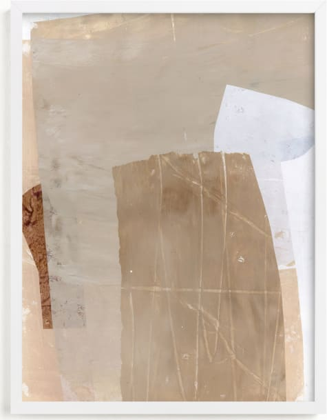 This is a white art by Jennifer Daily called Paper Plane IV.