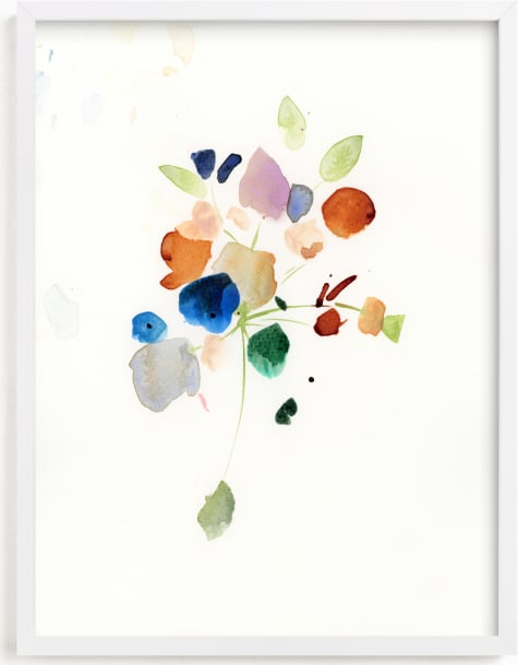 This is a blue art by Lindsay Megahed called Impromptu Bouquet.