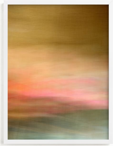 This is a pink art by Laura Bolter called Prairie.