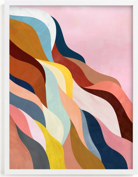 This is a brown art by melanie mikecz called Natural Fluctuation I.