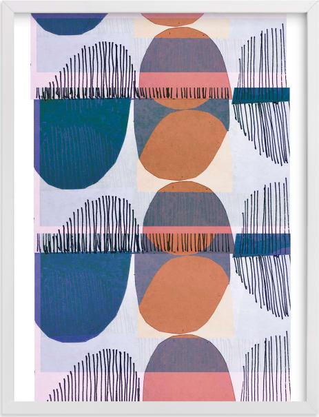 This is a blue art by Jenna Skead called Boho Screenprint I.