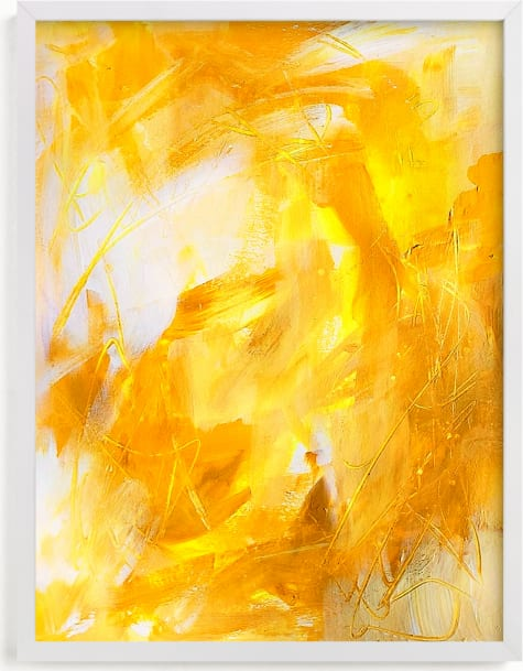 This is a yellow art by LaDara McKinnon called Yellowing Light.