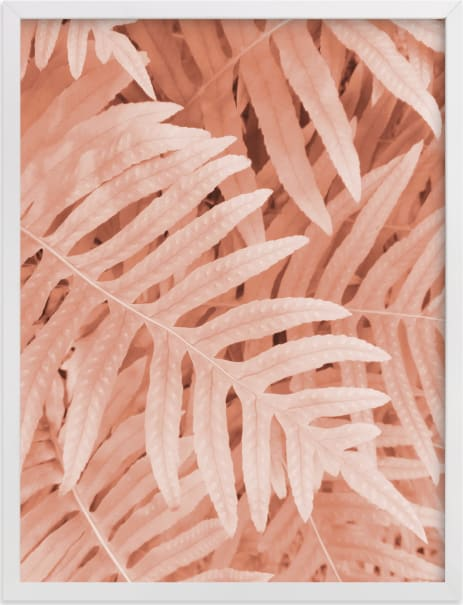 This is a pink art by EMANUELA CARRATONI called Pink Ferns.