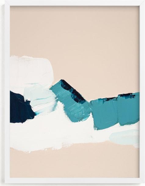 This is a blue art by Caryn Owen called Hidden Beach Diptych I.