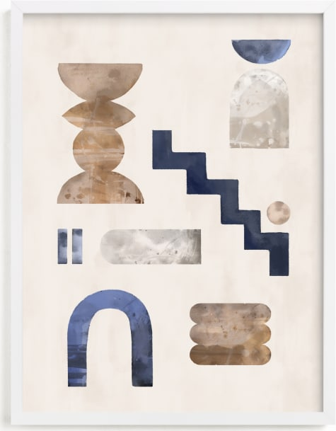 This is a blue art by Pati Cascino called soft shapes.