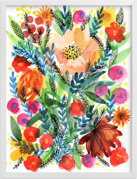 This is a colorful art by Alexandra Dzh called Summer bloom.