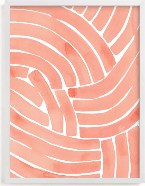 This is a white art by Kristine Sarley called Curvy lines.
