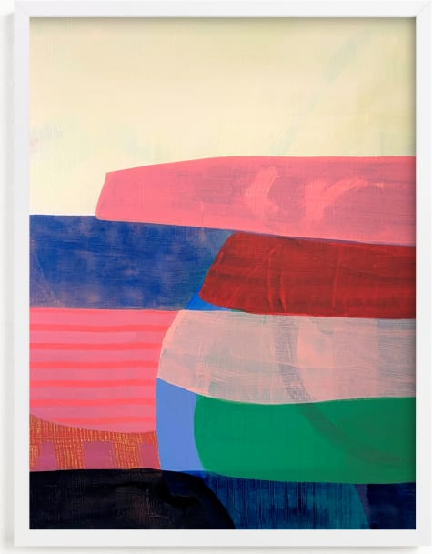 This is a blue art by Poppy Dodge called Tomales Road: Dusk.