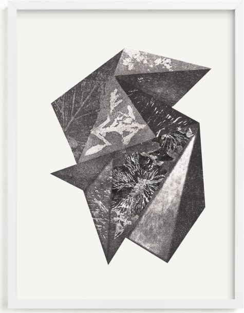 This is a black and white art by Oana Prints called Aquatinta.